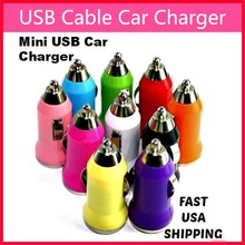 MINI USB CAR CHARGER COLORFUL ADAPTER MOBILE PHONE FREE