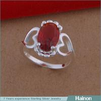 Popular Different Sizes Bulk Stock Zirconia Twins Heart Ring