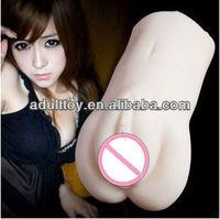 Hot selling full silicone artificial pussy for man ,plastic pussy sex toy for masturbation