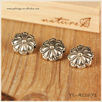 Mini Latest Design Flower Shape Fashion Vintage Bronze Smear Alloy Pendan Druzy Pendant 1.5mm hole YL-A11671