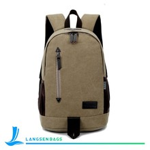 High quality cool pattern canvas backpack bag and leisure backpack