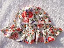 Factory price baby girl hats pattern fashion baby girls red hat