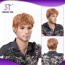 2015 New Product cheap mens wig blonde hair