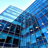 Full Glass Curtain Walls With Reflection And Structural Glass