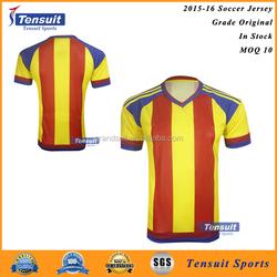 Soccer sports jersey new model, thai quality 2016 latest football shirt designs for men