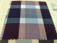 Purple Potion Navy Blue Cotton Check Fabric