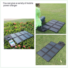 USA & EU hot selling portable & foldable 28W mono solar panel with DC or USB charger-port for travelling sporting etc.
