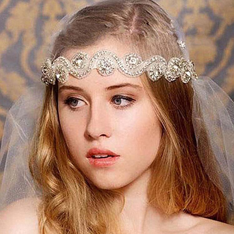 свадебная лента на голову своими руками