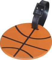 funny designed basketball luggage hand tag