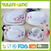 S shape royal classic porcelain dinnerware set, luxury fine china dinnerware set