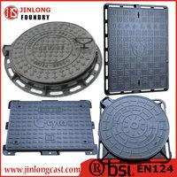 foundry direct sale cast iron manhole cover en124 b125 manufacturer