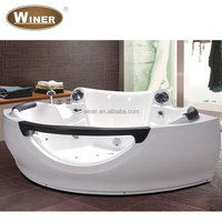 2015 Cheap 2 person freestanding whirlpool massage shallow corner bathtub for fat people