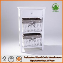 Small nightstand white modern bedroom furniture wholesale 801015