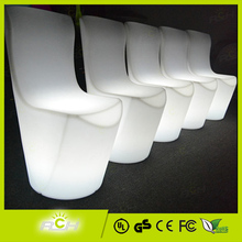 Event LED Light Restaurant Chair, High Back Restaurant Chair