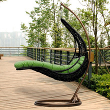 Outdoor Popular Rattan Wicker hanging Chair Swing