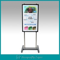 Metal poster a board stand