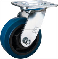 The 5 Inch Heavy Duty Elastic Rubber Caster With Swivel