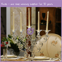 K7710 Kaiqi 5 arms fancy novelty shape crystal glass acrylic candle holder
