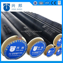 pu foam injected hdpe pipe jacket thermal insulated pipeline for underground cooling system