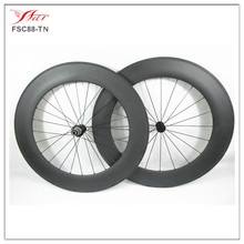 405US$/set,OEM wholesale carbon bmx wheels 88mm 20.5mm, tubular,20/24H,3K matte, with Bitex hub Sapim spoke