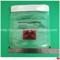 Heat resistant biohazard plastic bags with customized logo