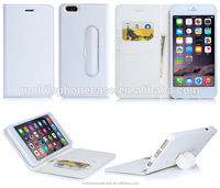 China Supplier Wholesale New Design Leather Wallet Cover Case For iPhone 6 plus 5.5