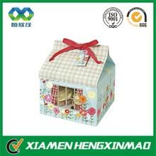 Folded Cupcake Storage House Paper Box
