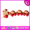 2015 wooden pull along toys for kids,popular chilcken style wooden pull toy for children,hot sale cute wooden toy pull W05B017