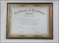 Retro PVC moulding 8.5x11 diploma certificate frames engraved honor document frame hot selling