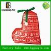 Christmas gift packing bag/ velvet shoe bag for christmas father christmas gift bag