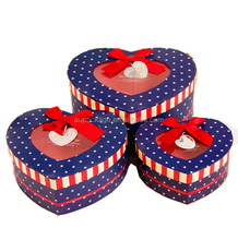 2015 popular fancy heart-shaped gift box gift packaging box wedding candy box with clear pvc window