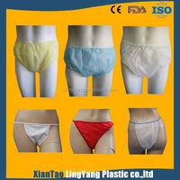 Disposable nonwoven underwear for business travelling