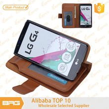 BRG Hot Selling Magnetic Removable Detachable Flip PU Leather Wallet Case For LG G4 , Detachable Leather Phone Case For LG G4