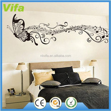 Music Note Butterfly Wall Sticker Home Art Decor Living Room Vinyl Removable Decals