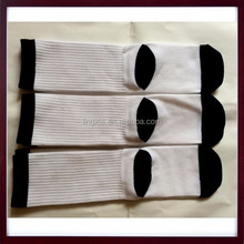 Adults Age Group Polyester White Socks For sublimation, Wholesale Custom Plain Sublimation Socks