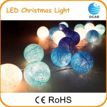 Popular newest Christmas decoration product, cotton ball led string light