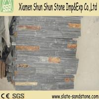 Natural Black Culture stone / Quartz Ledge for Wall Cladding