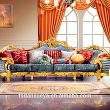 danxueya- royal indian furniture/chesterfield sofa french antique style accent king queen throne sofa antique corner sofa