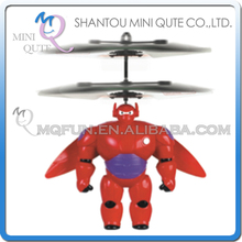 Mini Qute RC remote control flying Helicopter big hero 6 baymax cartoon model plastic doll kids Electronic toys NO.HY837-2