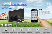 Excellent GSM 850/900/1800/1900 MHZ + iPH Remote Control Eas Security Alarm System G1