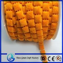 The new orange square flannelette plastic bead wire clothing decorative chain attachment