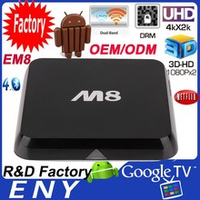 Amlogic S802 Quad Core EM8 M8 XBMC 3g skype wifi android tv box
