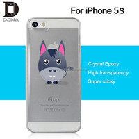 China unique transparent PU epoxy back cover for iphone 5s