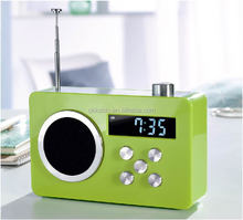 Auto scan radio station PLL FM clock radio with AUX input