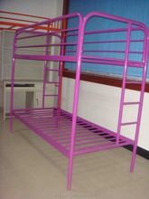 purple metal twin over twin bunk bed
