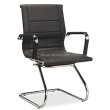 Black training chair with floor glide (FOH-F13-C)