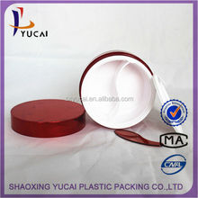selling acrylic mask jars skin whitening face cream cosmetic 100ml right angle red plastic cosmetic creams packaging