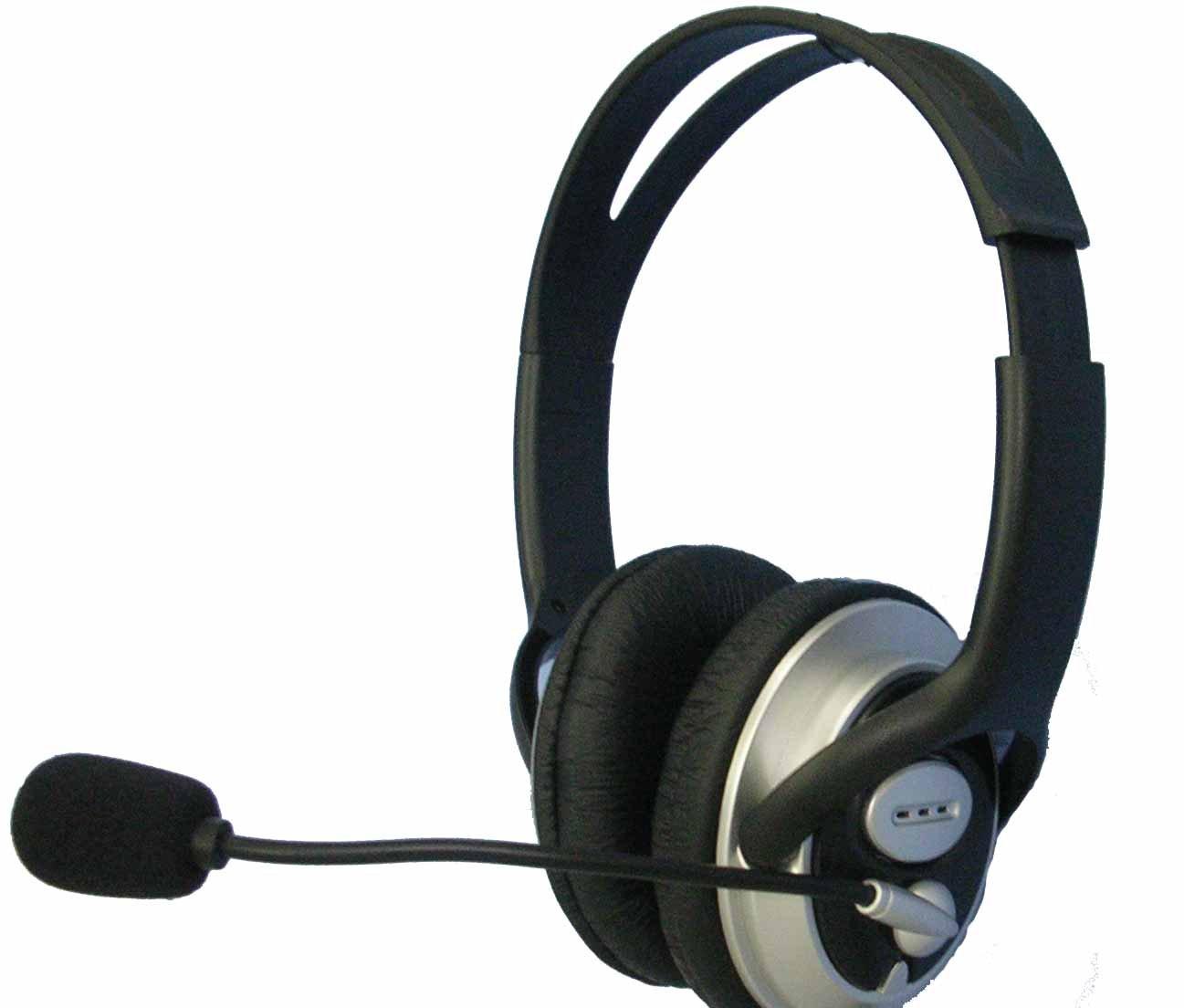 analogique pc casques avec microphone pour ordinateur voip. Black Bedroom Furniture Sets. Home Design Ideas
