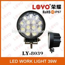 2015 waterproof round 39W LED tuning working light, trailer 4*4 led work lamp