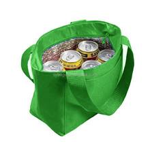 recycled fiber cooler tote handbag / small six bottles picnic cooler bag for women / cooler tote bag